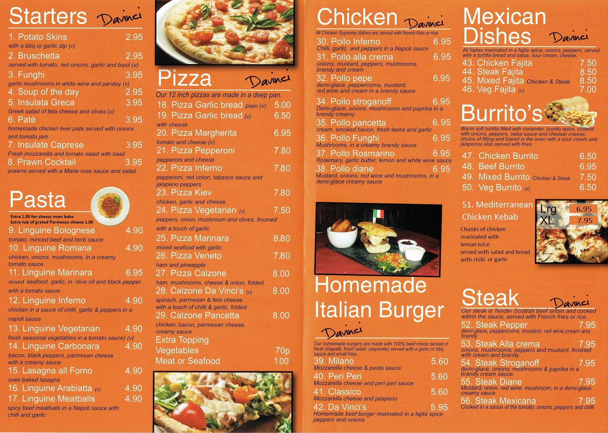 Takeaway Menu menu